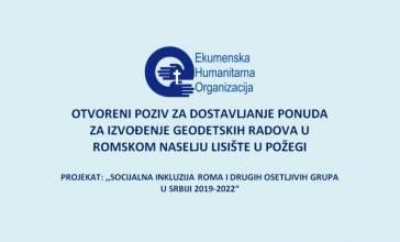 VišePoziv za dostavljanje ponuda za izradu KTP za romsko naselje Lisište u Požegi